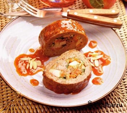 Готовое блюдо Глазированный мясной рулет