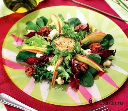 Готовое блюдо Салат с яблоками и сыром фета