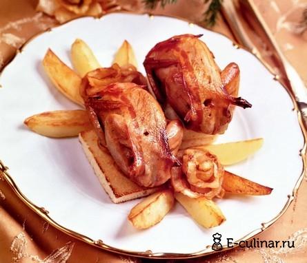 Готовое блюдо Перепела по-царски
