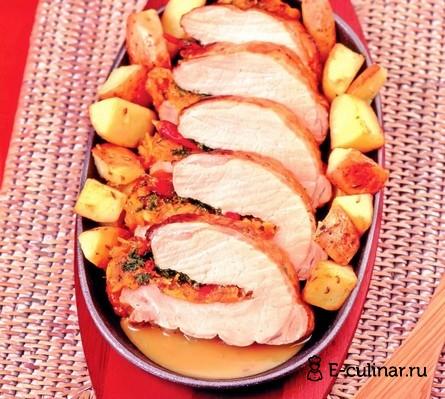 Готовое блюдо Свинина, запеченная с курагой