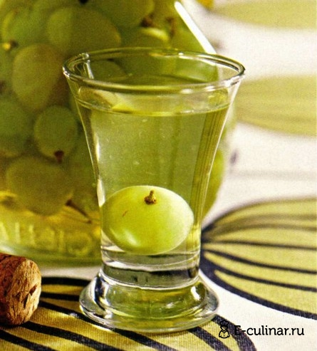 Готовое блюдо «Пьяный» виноград