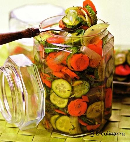 Готовое блюдо Зимний овощной салат