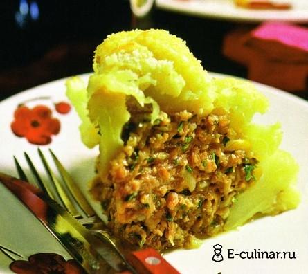 Готовое блюдо «Фаршированная» цветная капуста