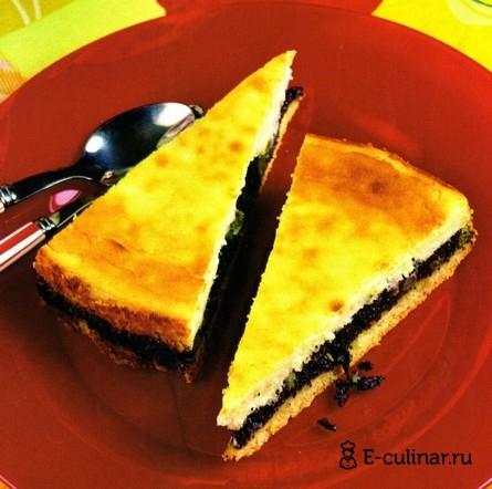 Готовое блюдо Пирог с творогом и маком