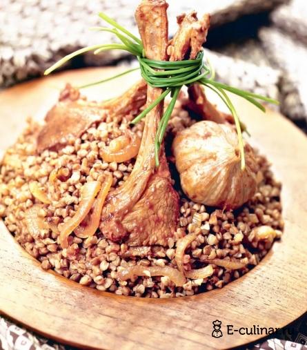 Готовое блюдо Плов с гречневой крупой