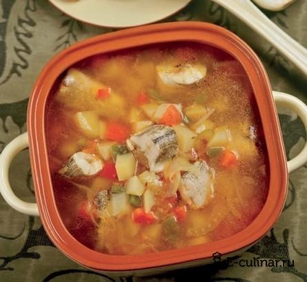 Готовое блюдо Рыбный суп с перцем и пряностями