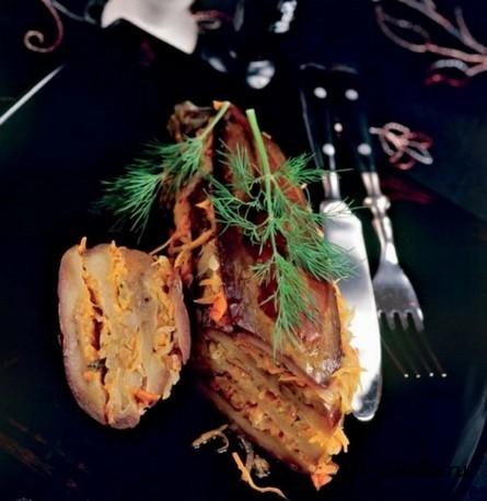 Готовое блюдо Баклажаны слоеные