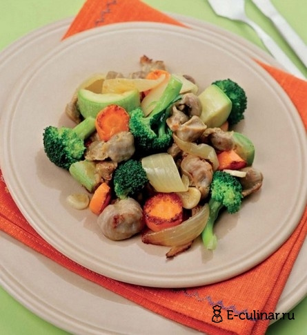 Готовое блюдо Рагу из куриных желудков