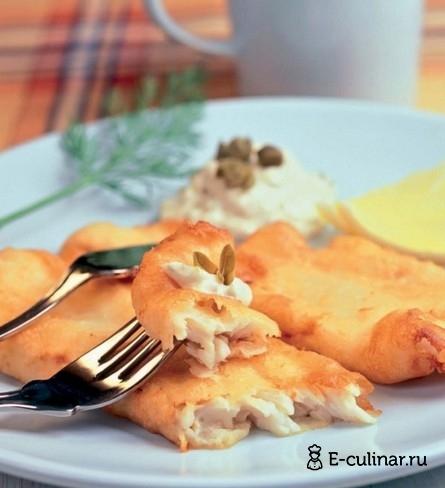 Готовое блюдо Рыба в кляре с пармезаном