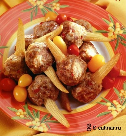 Готовое блюдо Острые фрикадельки