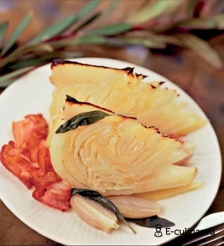 Готовое блюдо Запеченные капустные дольки