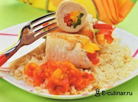 Готовое блюдо Куриные грудки с перцем