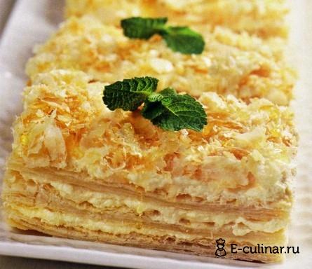 Готовое блюдо Слоеное пирожное с медовым кремом