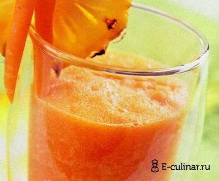 Готовое блюдо Морковно-ананасовый коктейль