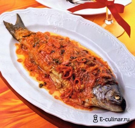 Готовое блюдо Рыба в «огненном» соусе