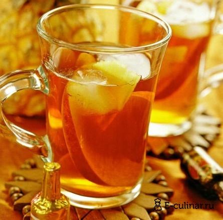 Готовое блюдо Чай с ромом и фруктами