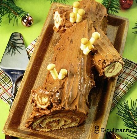 Готовое блюдо Рождественское полено