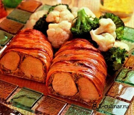 Готовое блюдо Свиная вырезка в беконе