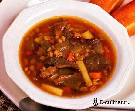 Готовое блюдо Суп перловый с грибами