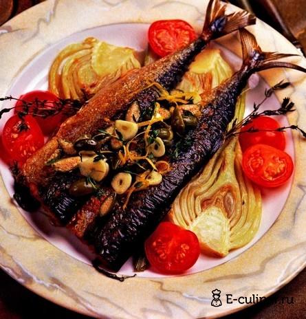 Готовое блюдо Филе макрели с овощами