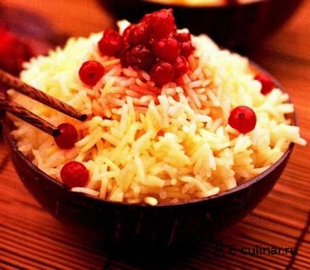 Готовое блюдо Рис с клюквой