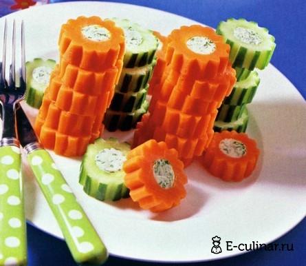 Готовое блюдо Закуска из овощей с творогом