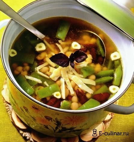 Готовое блюдо Суп из трех видов фасоли