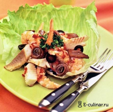 Готовое блюдо Морской салат