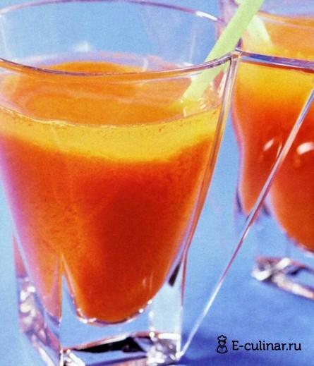 Готовое блюдо Напиток морковный с лимоном и медом