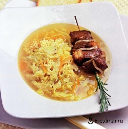 Готовое блюдо Суп из баранины с пшеном