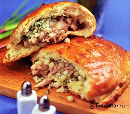 Готовое блюдо Пирог со свининой и картофелем