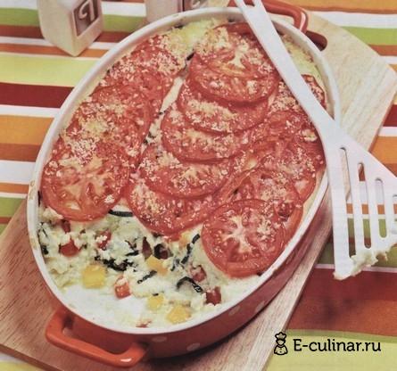 Готовое блюдо Запеканка с помидорами