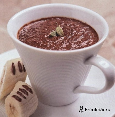 Готовое блюдо Кофейно-шоколадный коктейль с кардамоном