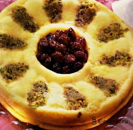 Готовое блюдо Манное суфле с вареньем