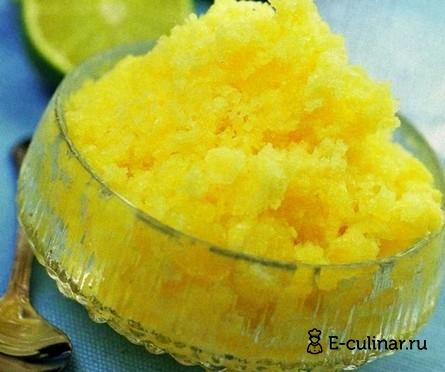 Готовое блюдо Щербет из манго