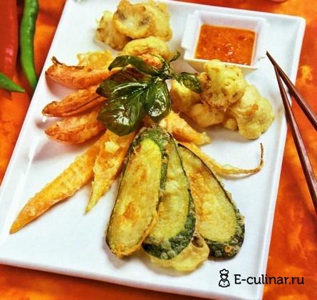 Готовое блюдо Овощи в кляре