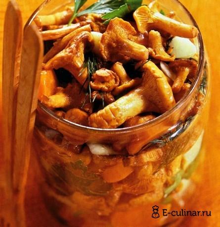 Готовое блюдо Консервированные жареные грибы с морковью