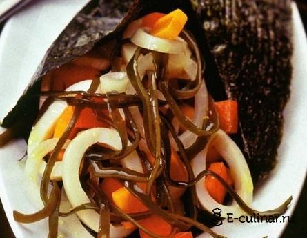 Готовое блюдо Салат из кальмаров и морской капусты