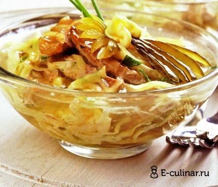 Готовое блюдо Салат-желе мясной с сыром