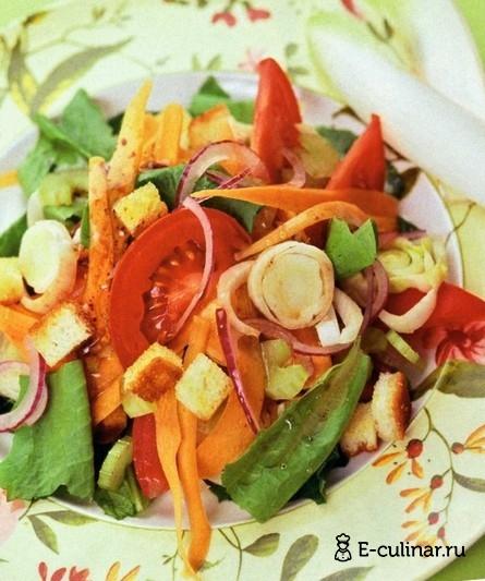 Готовое блюдо Овощной салат с гренками