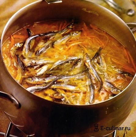 Готовое блюдо Кислые щи со снетками