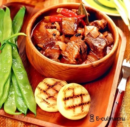 Готовое блюдо Яхния из говядины