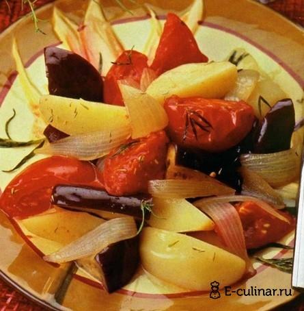 Готовое блюдо Овощное рагу с тимьяном и эстрагоном