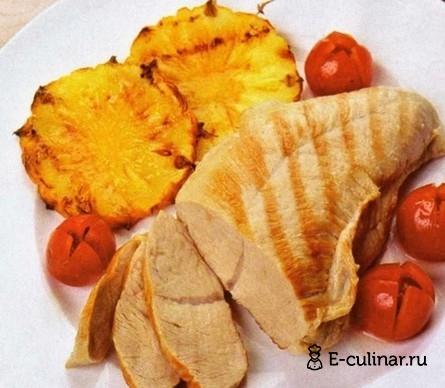 Готовое блюдо Грудка индейки с двумя соусами