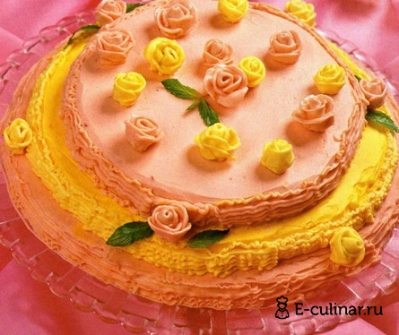 Готовое блюдо Торт «Венок из роз»