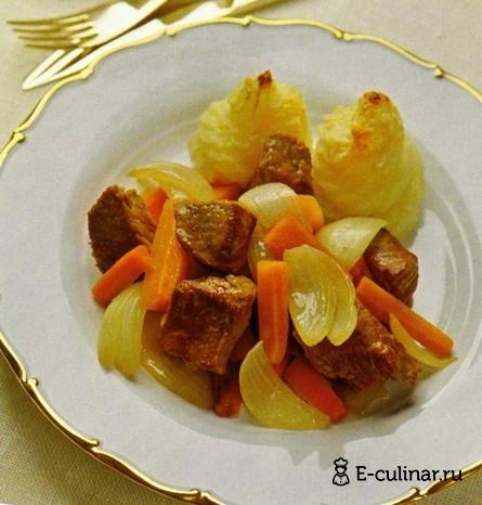 Готовое блюдо Телятина с запеченным картофельным пюре