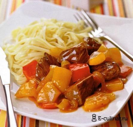 Готовое блюдо Кисло-сладкая баранина