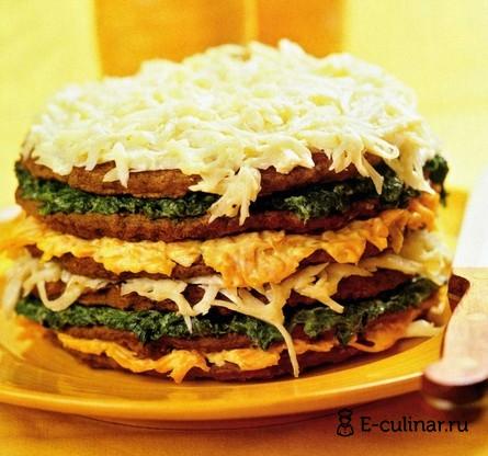 Готовое блюдо Печеночный торт