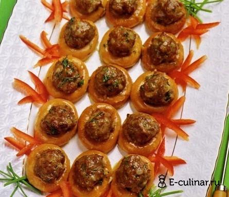 Готовое блюдо Сушки с мясом