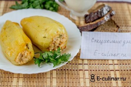 Готовое блюдо Болгарский перец с куриным фаршем